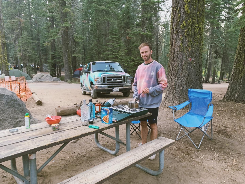 Crane Flat campground Yosemite