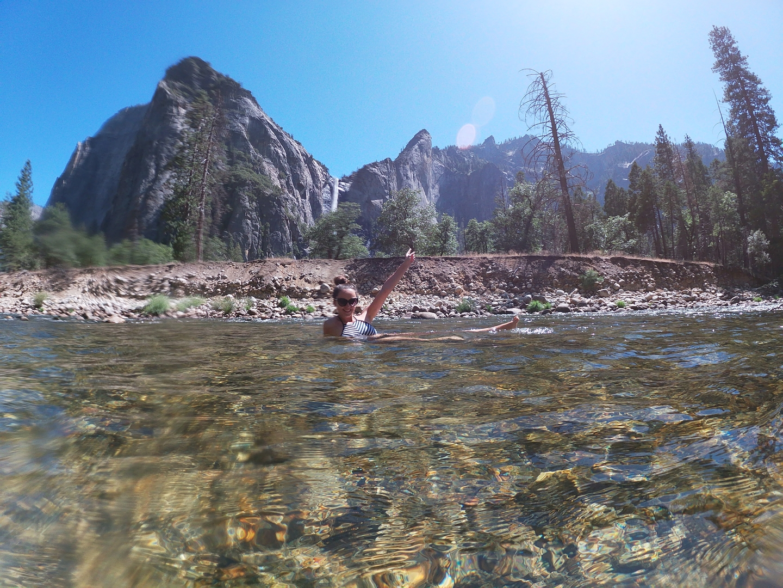 Swimming Merced River Yosemite Valley