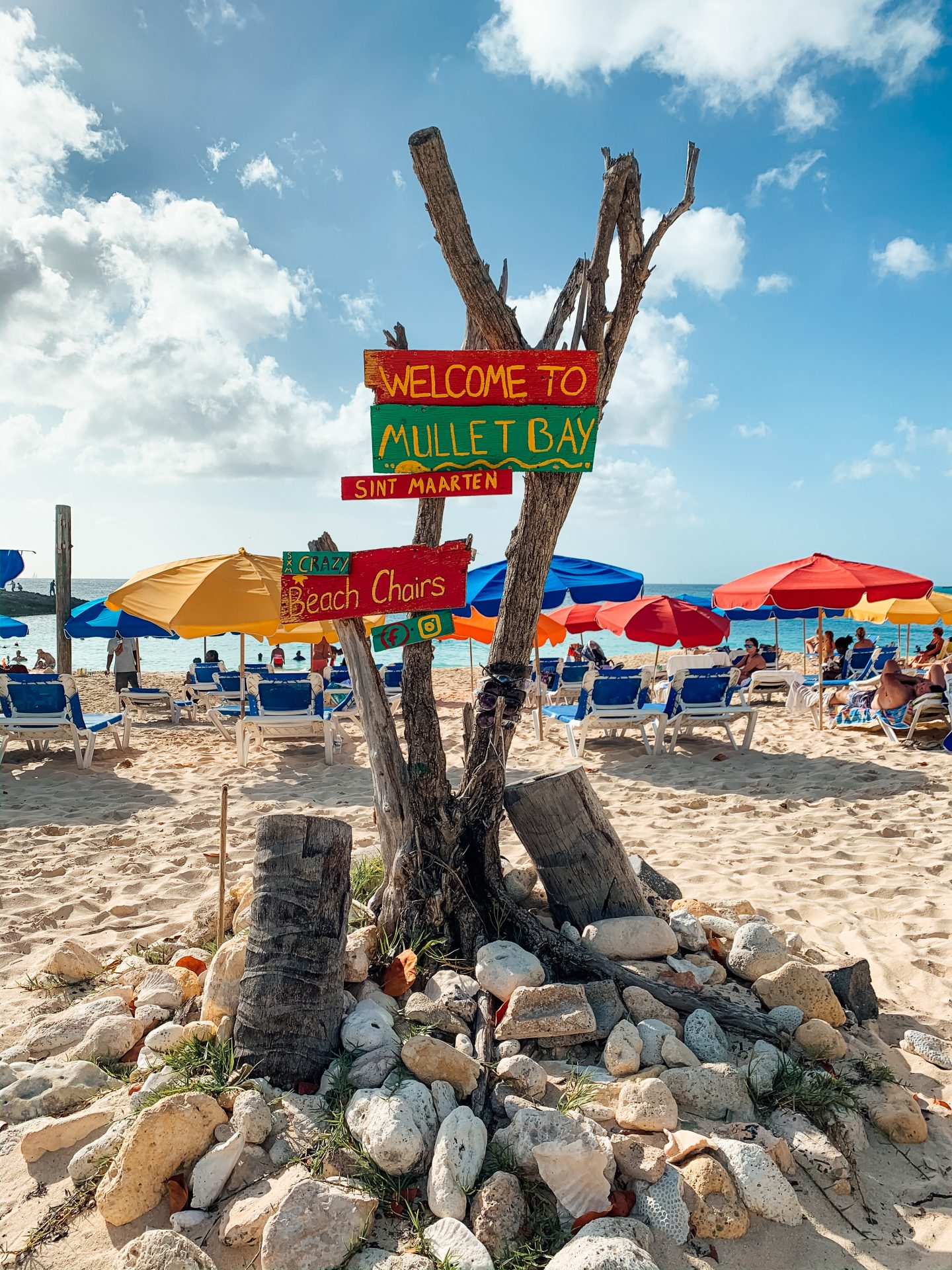 Mullet Bay Sint Maarten sign