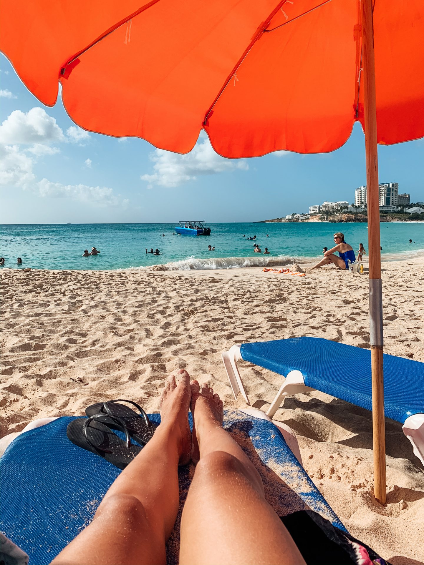 Mulley Bay Sint Maarten Sunbed Umberella