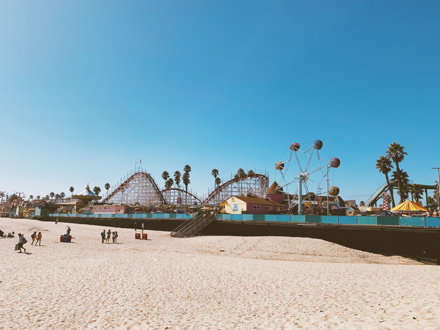 Santa Cruz Boardwalk Beach